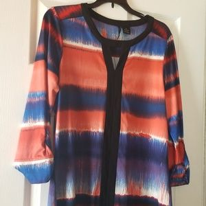 Colorful blouse 3/4 sleeves